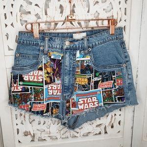 Pants - FDL French Dressing VTG Star Wars Cut Off Shorts